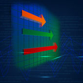 Arrow color on chart — Stock Photo