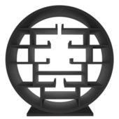 черный полке круг — Стоковое фото