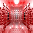 Red Digital Room — Stock Photo