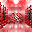 Red Digital Interior Room — Stock Photo