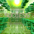 Stock Photo: Success green digital