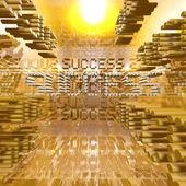 Başarı turuncu dijital — Stok fotoğraf
