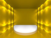 Boş altın sahne — Stok fotoğraf