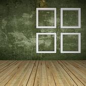 Green Empty Room with Windows — Stockfoto