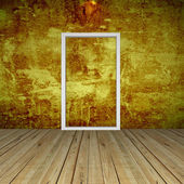 Gold Empty Room with Door — Stock Photo