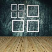 Tomma rum med fönster — Stockfoto