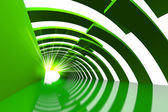 Green structure path — Stock Photo