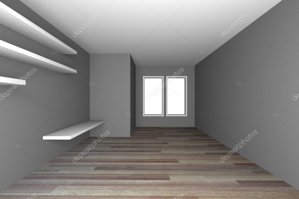 Gris vac o living comedor con piso de madera foto de - Piso madera gris ...