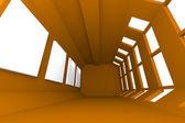 Interior abstracto galería marrón — Foto de Stock