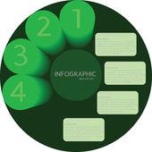 Green circle Modern Business Design template — Vetor de Stock