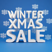 Big winter sale — Stock Photo
