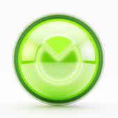 Knop grafiek taart groen glas — Stockfoto