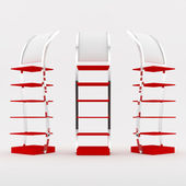 Color red shelf design — Stock Photo