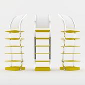 Color amarillo estante diseño — Foto de Stock