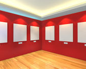 Empty room red gallery — Stock Photo