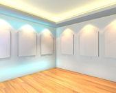 пустая комната белая галерея — Стоковое фото