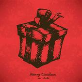 Doodle Gift box — Wektor stockowy