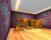 Happy New Year - 2014 in Empty room — Foto de Stock