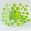 Abstract green geometric shapes from cubes — Stock Photo #37962131
