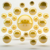 Abstract yellow geometric shapes from rounds — Stockfoto