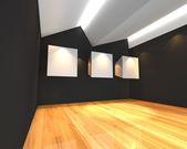 Vit duk på svart vägg — Stockfoto
