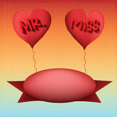 Love balloon Mister and miss — ストックベクタ