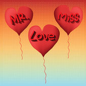 Love balloon Mister and miss — Vector de stock