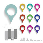 Map pin color set — Stock Vector