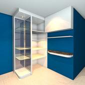 Shelves designs blue — Stock Photo