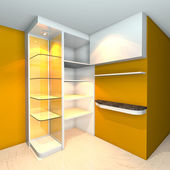 Shelves designs yellow — Stock Photo