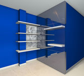 Shelves designs blue — Stock Photo