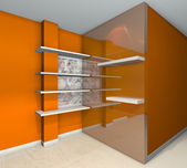 Shelves designs orange — Stock Photo