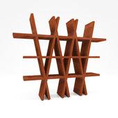 美国红木木材架子 — 图库照片