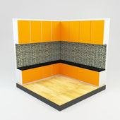 Кухня комната с каменной мозаики драгоценных камней — Стоковое фото