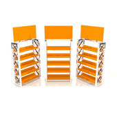 Orange shelves truss — Stockfoto