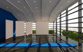Blue office interior modern — Stock fotografie