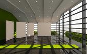 Grünen Büro innen modern — Stockfoto