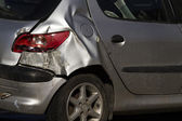 Damaged car — Stock Photo