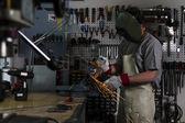 Metalen werknemer — Stockfoto