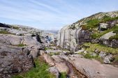 Kjerag mountain in Norway — Stock Photo