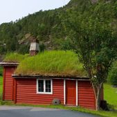 Traditional house of Norway — Stock Photo