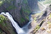 Voringfossen waterfall in Norway — Stock Photo