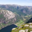 Lysebotn Fjord in Norway — Stock Photo