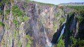 Voringfossen waterfall in Norway — Stock Photo