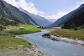 Landscape with Alps — Stock Photo