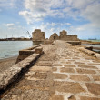 Old crusaders castle of 13th century into the sea in Saida, Leba — Stock Photo