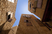 Old city downtown perspective view with blue sky in Saida, Leban — Stock Photo
