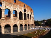 Side of the coliseum — Stock Photo