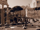 Rome, ruins of the Palatine Hill — Stock fotografie