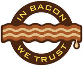 In Bacon We Trust — Stock Photo